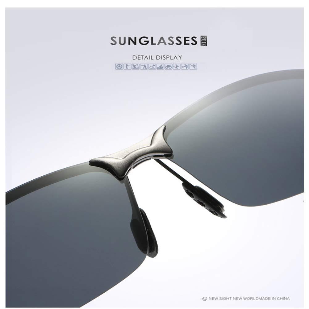 Sports Polarized Sunglasses for Men, Mens Sports Glasses Metal Frame Driving sunglasses(Black/Green)