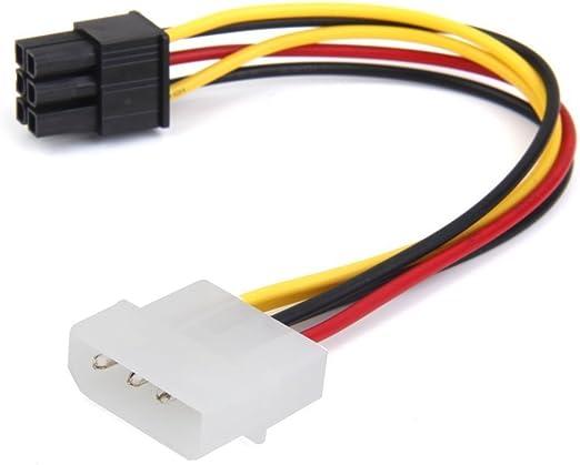 Sodial Kabel 4 Pin Stecker Zu 6 Pin Buchse Stromkabel Elektronik