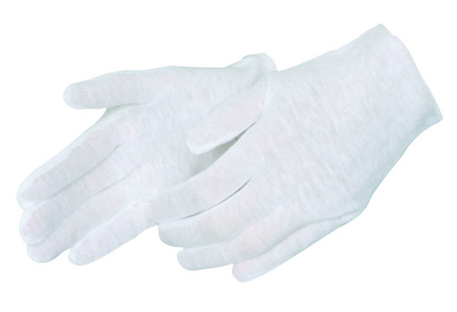 White Light weight Cotton Lisle Inspection Gloves Mens Large 3 Dz Pairs