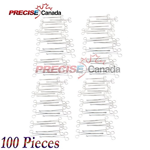 PRECISE CANADA: SET OF 100 SELF-LOCKING SPONGE FORCEPS 6'' BODY PIERCING STAINLESS STEEL by PRECISE CANADA (Image #2)