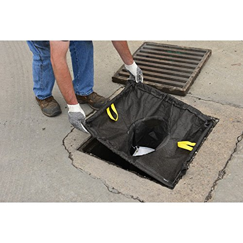 Eagle T8702B StormNest Catch Basin Insert, Sediment-Oils, Rectangle, Adjustable, 16'' x 20'' - 28'' x 36'', Black by Eagle