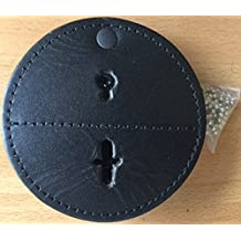 Universal Round Leather Badge Holder with Hook Closure Belt Clip. Neck chain included - Sold by Uniform World
