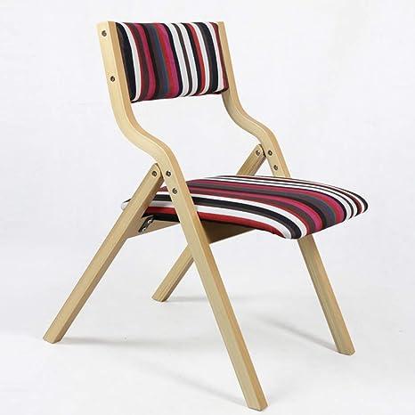 Amazon.com: JYKOO Silla plegable de madera maciza, silla de ...
