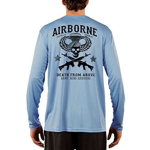 Dead Or Alive Clothing Men's Army 82ND Airborne UPF 50+ Long Sleeve T-Shirt XX-Large Columbia - Mens Alive T-shirt
