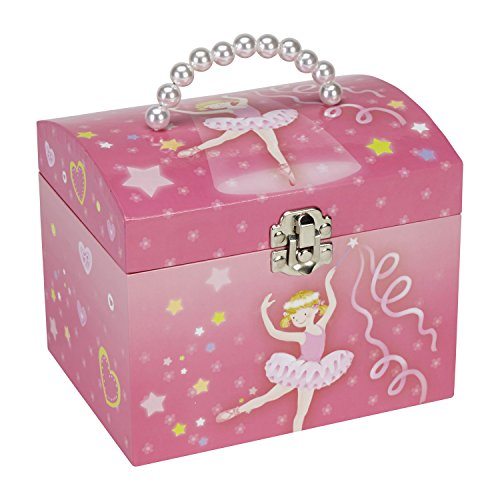 Dancing Ballerina Music (JewelKeeper Dancing Ballerina Music Jewelry Box with Pearl Handle and Removable Insert, Girl's Jewel Storage Organizer, Swan Lake Tune)