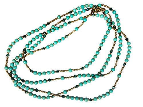 bijoux-de-ja-simulated-turquoise-howlite-seed-beads-strand-rope-necklace-50-inches