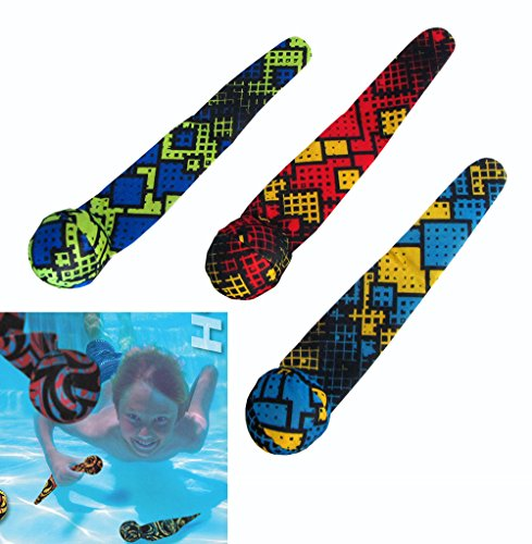 COOP Hydro Dive Streamers Pool Dive Toy - 3 Pack - Checkered - Xbox Lacrosse