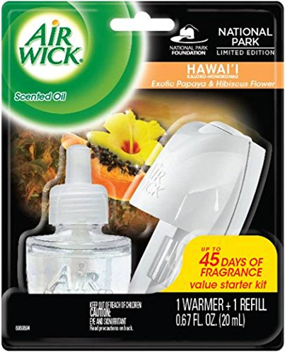 Air Wick Scented Oil Plug In Air Freshener Starter Kit, National Park Collection, Hawaii Scent