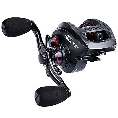 KastKing Speed Demon 9.3:1 Baitcasting Fishing Reel – World's Fastest Baitcaster – 12+1 Shielded Ball Bearings – Carbon Fiber Drag – Affordable