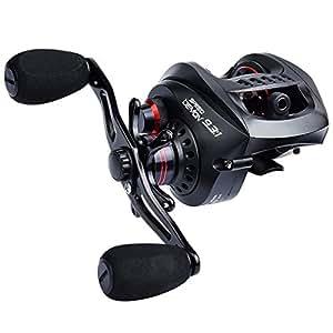 KastKing Speed Demon 9.3:1 Baitcasting Fishing Reel – World's Fastest Baitcaster – 12+1 Shielded Ball Bearings – Carbon Fiber Drag. r Drag