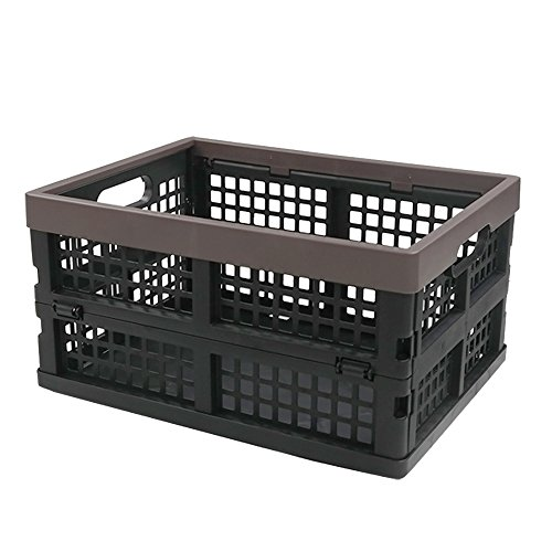 - Nicesh Plastic Collapsible Storage Bin/Basket, Set of 2, 15 Quart