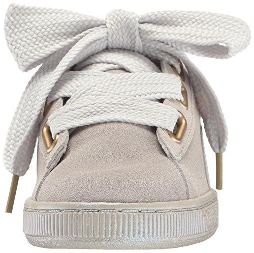 Puma Donna Camoscio Cuore Raso Wns Fashion Sneaker Grigio Viola-grigio Viola