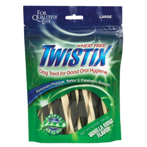 Twistix Vanilla Mint Flavor Dental Chews For Dogs – Large 7 ct, My Pet Supplies
