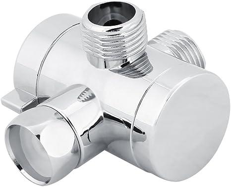 Emoshayoga Electroplating Wall Mounted Scratch resistant Copper Shower Diverter Valve G1//2 Shower Head Diverter with Base