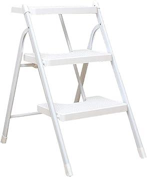 Escalera interior Escalera de 3 escalones, ancho blanco, 68 cm Escalera plegable multifunción de hierro: Amazon.es: Bricolaje y herramientas