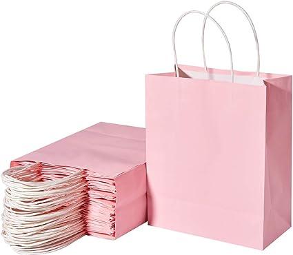 "125 Pcs White Kraft Paper Bags Shopping Mechandise Party Gift 10/""x5/""x13.5/"""