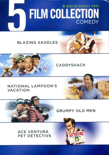 Best of Warner Bros. 5 Film Collection - Comedy (Blazing Saddles / Caddyshack / National Lampoon's Vacation / Grumpy Old Men / Ace Ventura Pet Detective)