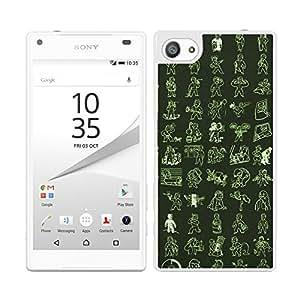 Funda carcasa para Sony Xperia Z5 Compact diseño estampado muñecos borde blanco