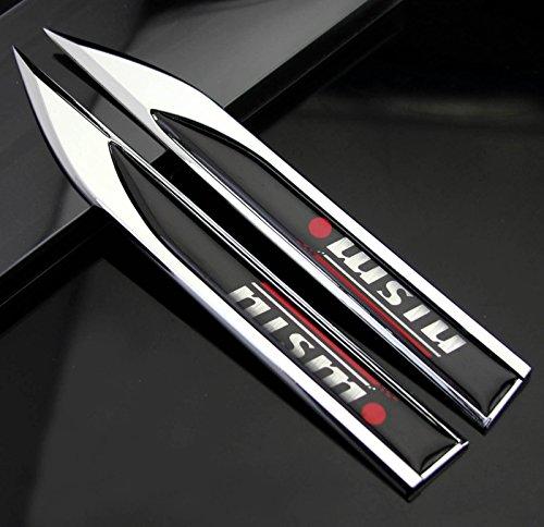 - 2pcs Auto car Dagger Fender Emblems Sticker Badge Decals fit for Black NISMO NEW