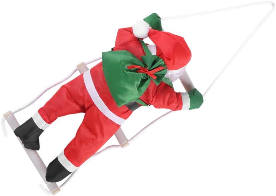 Lecxin Decoración de Papá Noel, Escalada Juguete de Papá Noel Árbol de Navidad Decoración de Adornos Colgantes de Interior/Exterior Decoración de Apartamentos Decoración de Papá Noel: Amazon.es: Hogar