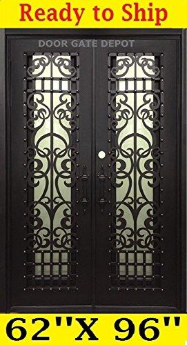 Wrought Iron Entry Door,Iron Doors, 62'' x 96'' DGD1008 ()