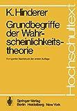 Grundbegriffe der Wahrscheinlichkeitstheorie, Hinderer, K., 3540073094