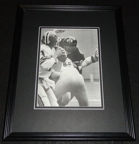 Greenwood Steelers Lc (LC Greenwood Steelers vs Falcons Framed 11x14 Photo Display)