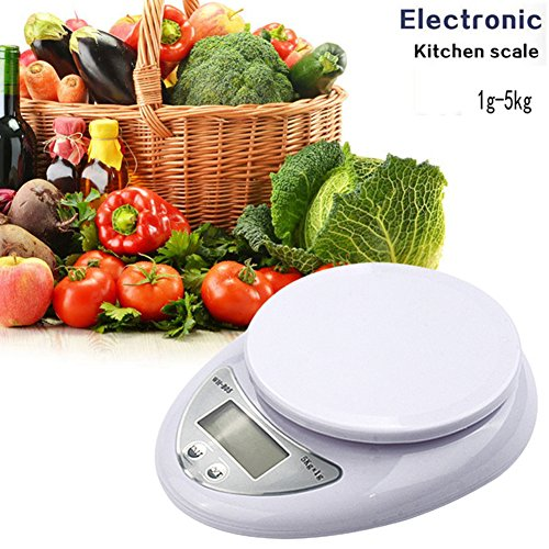 5000g/1g 5kg Food Diet Postal Kitchen Digital Scale scales balance weight weighting LED electronic - 4