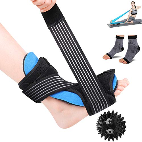 LBLESSY Plantar Fasciitis Night Splint Foot Drop Orthotic Brace,Adjustable Dorsal Night Splint Supports for Right or Left Foot,Effective Relief from Plantar Fasciitis Pain,Foot Back Sprain and Strain