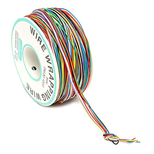 RLECS PCB Soldering Fly Jumper Wire 30AWG OK Wire Insulated Testing Cable for Laptop Motherboard 8 Color 0.25mm Single Core Tin Plated Copper Wrapping Wire