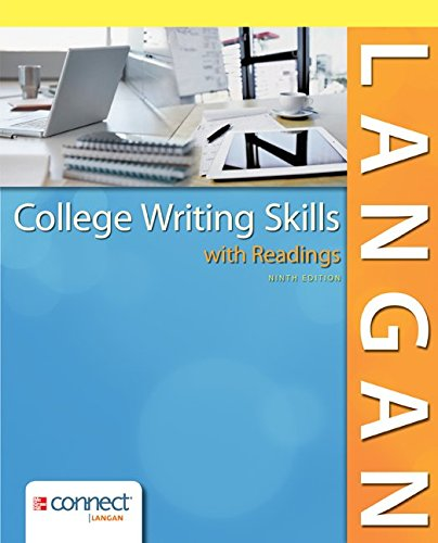 Connect Media Drawer - College Writing Skills with Readings w/CONNECT Writing 3.0 for Langan Access Card