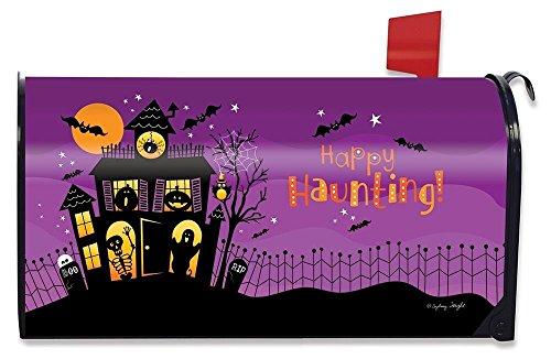 - Briarwood Lane Happy Haunting Halloween Magnetic Mailbox Cover Haunted House Standard