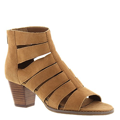 Vionic Womens Harlow Leather Open Toe Ankle Fashion Boots, Caramel, Size 7.0 by Vionic