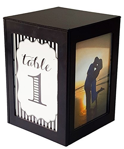 Lighted Table Centerpiece for Weddings, Parties, Events and Restaurants to Display, Photos, Table Numbers, Menu and Guest Names by (Event Menu Card)