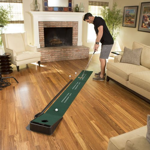 SKLZ Accelerator Pro - Indoor Putting Green With Ball Return - best golf training aids