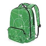 CIKYOWAY Detachable Soccer Illustration W Tactics Drawing Balls Daypack for Teens