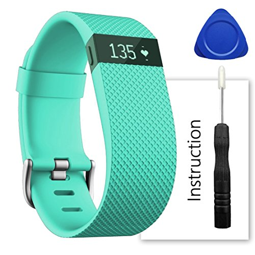 Teal for sale online Fitbit Charge HR Wireless Activity Tracker