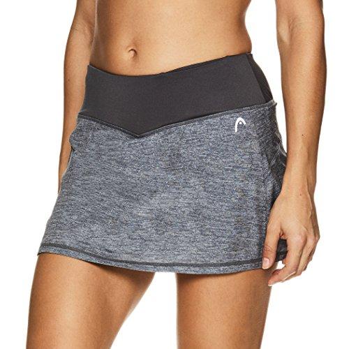 HEAD Women's Athletic Tennis Skort - Performance Training & Running Skirt - Medium Grey First Serve, X-Large ()