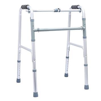 GRHL Aluminio andador, andador, muletas patas plegables, regulable ...