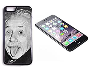 iPhone 6 Black Plastic Hard Case with High Gloss Printed Insert Einstein