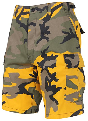 Rothco Colored Camo BDU Shorts (XS, Stinger Yellow Camo)