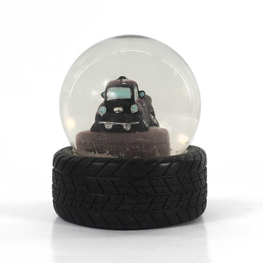 Weiduoli工芸品黒い車の水晶玉黒いタイヤ創造的な贈り物雪玉   B07LDK5D8F