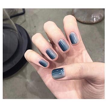 Amazon.com: Dongcrystal - 24 uñas postizas cuadradas de ...