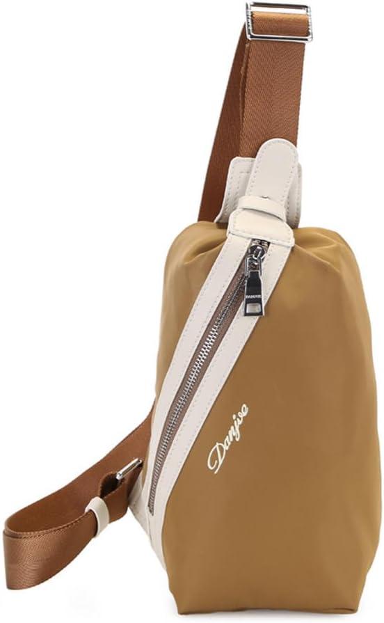 DANJUE mens chest pockets shoulder slung fashion sports bag travel tide mens backpack D8037 blue