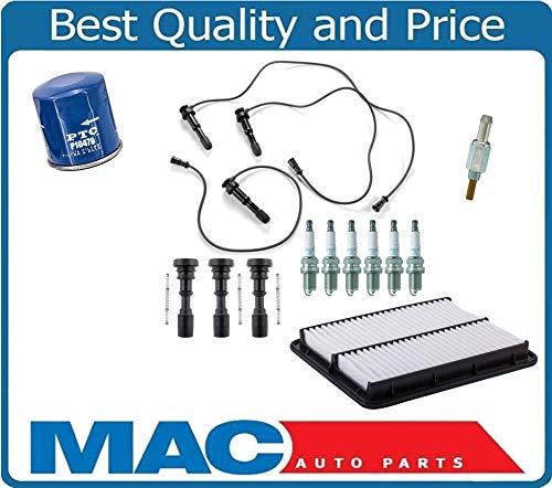 Mac Auto Parts 158839 Ignition Wires With Coil Connector & Plugs Set New for Kia Sorento 13pc 03-2006 by Mac Auto Parts