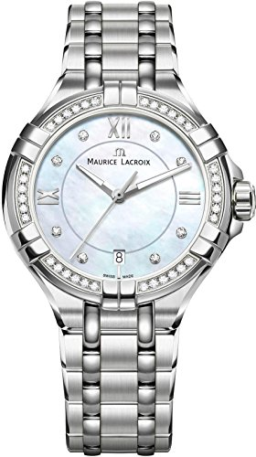 Maurice Lacroix Women's 'Aikon' Quartz Stainless Steel Casual Watch, Color:Silver-Toned (Model: AI1006-SD502-170-1)