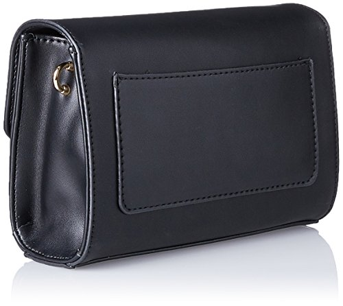 LYDC London G1712 - Borse a tracolla Donna, Schwarz (Black), 8x14x20 cm (B x H T)