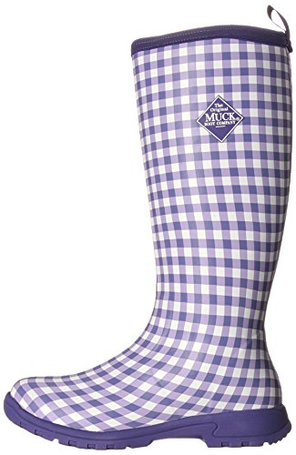 MuckBoots Women's Breezy Tall-W, Purple Gingham, 6 M US by Muck Boot (Image #5)