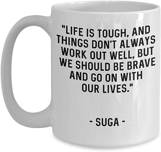 com bts coffee mug bts suga min yoongi quote bangtan