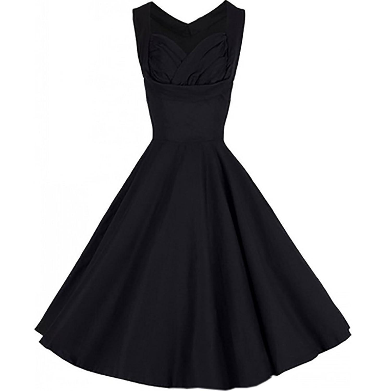 Partiss Women's Sleeveless 1950's Hepburn Style Vintage Dress